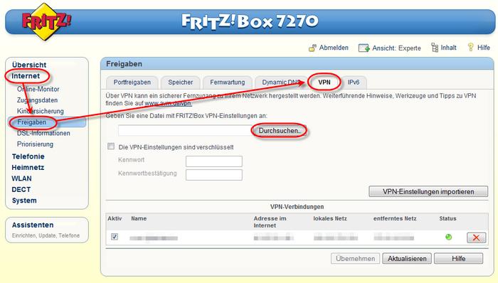Fritz Box Splitter